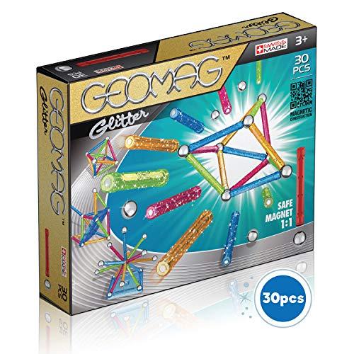 Geomag Glitter Colour Gioco di Costruzione Magnetico, Multicolore, 30 Pezzi