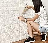 DODOING Fliesensticker Aufkleber Fliesenbild selbstklebend Tapete Design Moderne 3D Optik für Wohnzimmer, Schlafzimmer oder Küche (2 Stück/60x30cm(23.6x11.8 Zoll), Weiß)