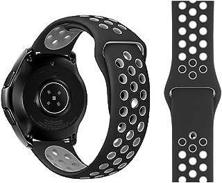 FOOKANN Soft Slicome Watch Sport Band Compatible for Samsung Galaxy Watch 3 45mm, Galaxy Watch 46mm, Gear S3 (Black/Gray)
