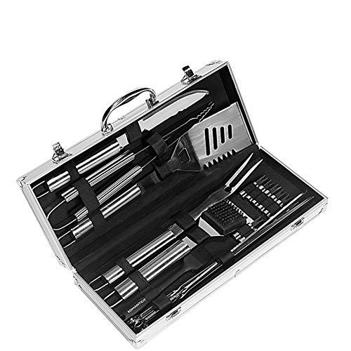 518UlYUlV1L - LCZ Grillbesteck-Set 18-Teilig, Grillzubehör Edelstahl, Inkl. Grillwender, Grillzange, BBQ-Gabel, Fleischmesser, Grillpinsel Und Koffer