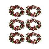 Amosfun, anello portacandele, ornamenti natalizi a forma di foglia di tè, portatovaglioli...