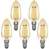 Klarlight Bombillas Vela de Filamento LED E14 4W C35 Regulable...