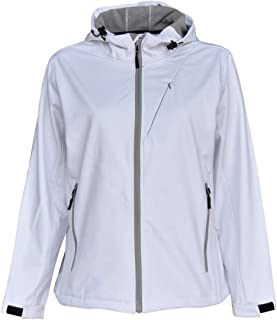 d3eeb236266 Pulse Womens Extended Plus Size Soft Shell Hooded Jacket