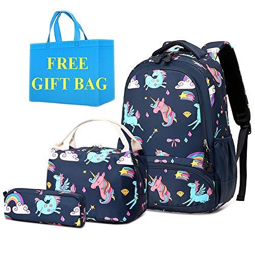 Mochila Niña Unicornio Mochilas Infantiles Girls School Bag Set Mochilas Chicas Niña Bolsas Escolares,Mochilas para Escuela Viaje