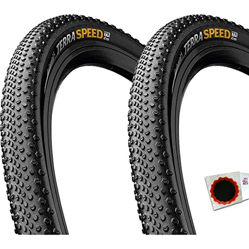 Continental+TipTop 2X Reifen Terra Speed Protection falt 28x1.35 35-622+Flicken