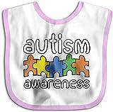 Concienciación sobre el autismo Toalla de saliva para niños pequeños recién nacidos, color rosa