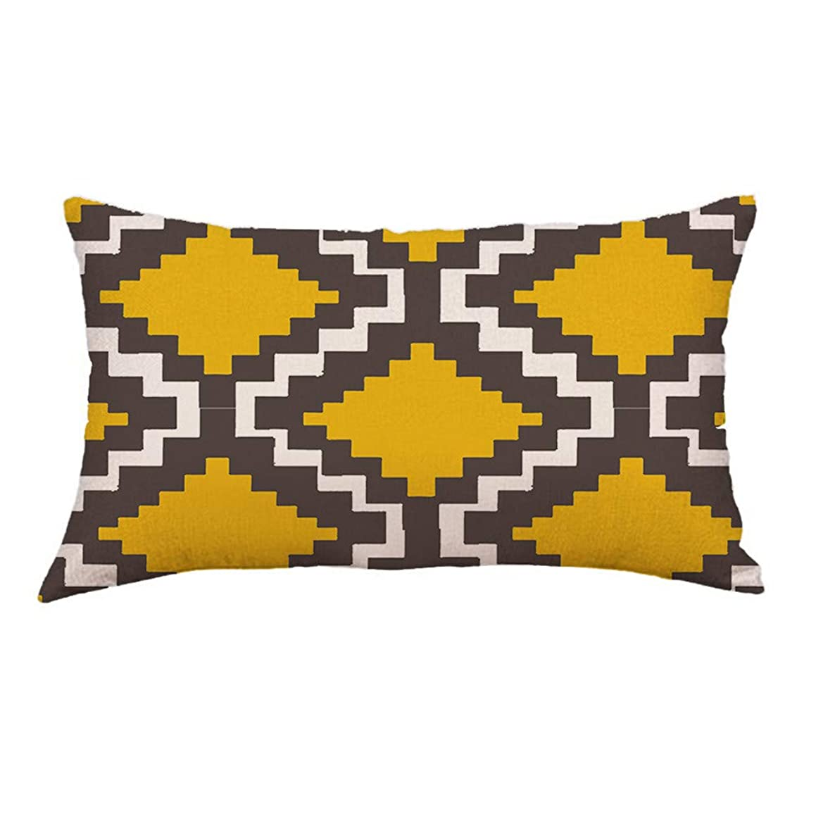 Sunshinehomely Clearance Geometric Rectangle Throw Pillow Covers Super Soft Cushion Cover 12x20