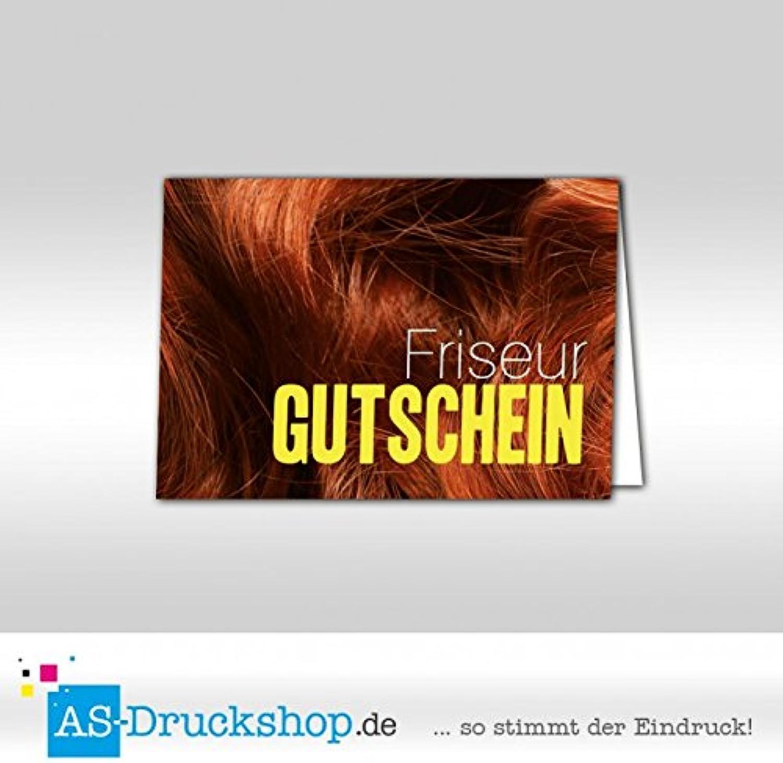 Gutschein Friseur - Kastanienbraun   100 Stück   DIN A6 B079PWYJNR | Sehr gute Qualität