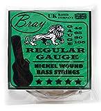 Cordes BRAY pour guitare basse 4 cordes (Tirant 45-105) - parfaites pour la guitare basse Fender, Gibson, Yamaha, Squier et Ibanez