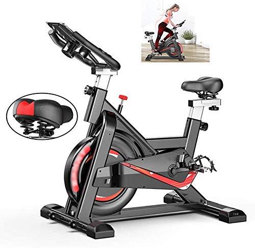 CLI Bicicleta estática Bicicleta Interior con Volante de inercia 24LBS y cómodo cojín del Asiento El Contador de calorías más actualizado y una Bicicleta estacionaria Suave Adecuada para el ejer