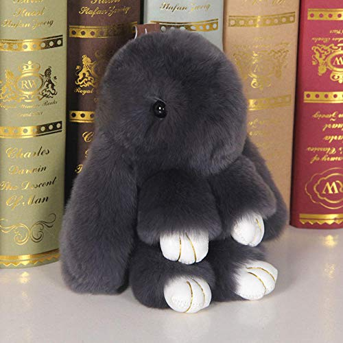 SILENCE Conejo Peluche Juguete de Peluche Muñeca Amante Amigo Lindo Conejo Colgante Bolsa Joyería-15Cm_Deep_Grey