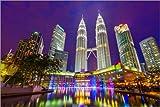 Poster 91 x 61 cm: Petronas Towers, Kuala Lumpur von Alan