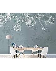 Witte bloemen en planten Vintage vliesbehang 3D behang wanddecoratie muurschilderingen woonkamer 3d woonkamer de muur voor slaapkamer Muurschildering border