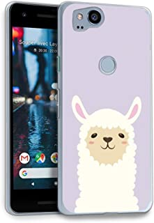 HelloGiftify Google Pixel 2 Case, Lavender Purple & Alpaca TPU Soft Gel Protective Case for Google Pixel 2