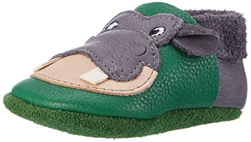 Pololo Unisex-Kinder Hippo Krabbel-& Hausschuhe, Grün (Graphit Tabaluga 835), 20/21 EU