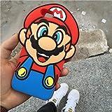 スーパーメアリーアップル6 s携帯電話ケースiphone6plus漫画マリオシリコーン保護スリーブ (iPhone6/6s,マリオ)