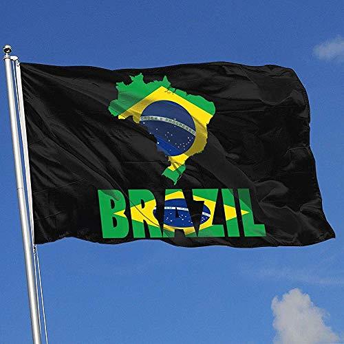 qinzuisp Yard Banner Brazilië Kaart Vlag Banner Met Grommets Yard Vlag Welkom 150X90Cm Huis Vlag Polyester Yard Banner Kleurrijke Tuin Vlag Outdoor Vrij Levendig