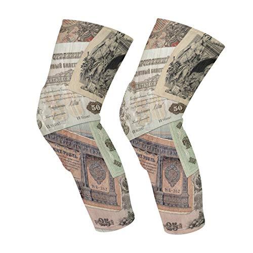 Altes Geld des kaiserlichen Russland Knie-Ärmel Wadenbein-Stützkompressionssocken Wabenschutzausrüstung