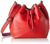 Calvin Klein Jeans MIA MINI Damen Umhängetasche 10x20x23 cm (B x H x T), Rot (FIERY RED/BERRY 908)