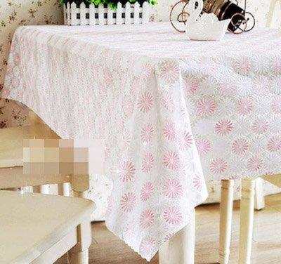 BLUELSS Nappe PVC Table de Salle à Manger Table de café Fin Couvercle en Plastique imperméable Tissu Rectangle Round Square 5 Motifs sur Mesure,Fleur,Rose 60 * 60cm