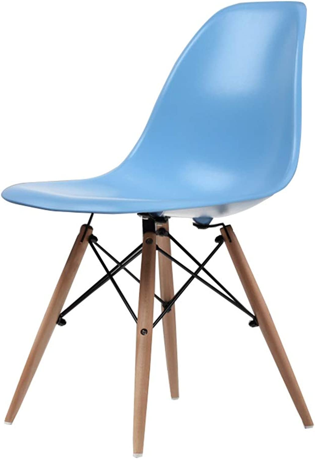 Wooden Chair Creative Office Stools Kitchen Dining Table Meeting Room Backrest Business Computer Chair Barstools,45x45x82cm,bluee
