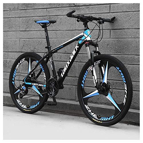 Sport all'Aria Aperta 26'Mountain Bike Pieghevole da 30' a Sospensione Anteriore Bicicletta da Uomo o Donna MTB Telaio in Acciaio ad Alto tenore di Carbonio con Doppio Freno a Olio, Nero