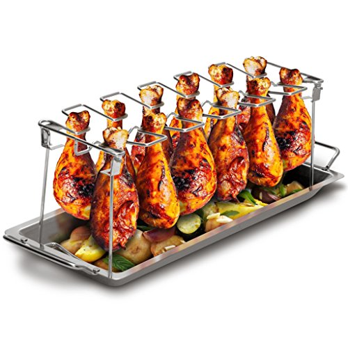 Grill Republic Premium Chicken Leg Rack for Barbecues