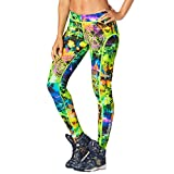 Zumba Fitness Rock out Piped Leggings Mujer Pantalones, Todo el año, Mujer, Color Get in Lime, tamaño Small