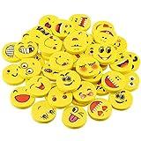 80 Stück Emoji Kinder Radiergummi Kinder Smiley Radiergummi Mini Radiergummi Lachgesicht Radiergummi Lustige Radiergummis für Geburtstag Party Festival neues Jahr Weihnachten, Gelb