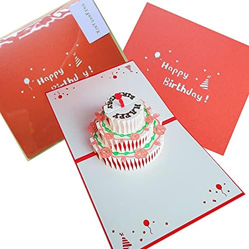 Biglietti auguri compleanno,3D Biglietto auguri,pop-up con squisito taglio carta,Per amici,...