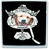 Cathedral Art Loving Memory Angel Dog Frame Plaque with Hanger