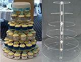 Lalia XL Torten Etagere durchsichtig groß 6 stöckig 35-10cm Umfang stabiles Plexiglas für Cupcakes Torten Hochzeitstorte Perfekt Party, Taufe Geburtstag oder zur Hochzeit Tortenständer Tortenetagere - 2