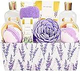 Geschenk für Freundin, SPA LUXETIQUE 12 tlg. Geschenkset Lavendelduft mit Badesalz, Badebomben,...