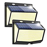 Solar Lights Outdoor Ultra Bright - 468 LED Solar Security Light with Motion Sensor 3 Lighting Modes Waterproof Wireless Solar Powered Wall Lights for Outside 2 Pack Lamps