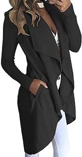 Phyhrt Women's Casual Long Sleeve Loose Fit Cardigan Jacket Overcoat Outwear