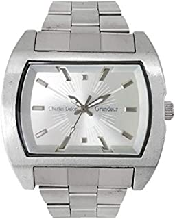 Charles Delon Mens Quartz Watch, Analog Display and Stainless Steel Strap 5152 GPSS