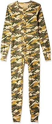 Carhartt Men's Force Classic Thermal Base Layer Union Suit, Rugged Khaki Camo, Medium