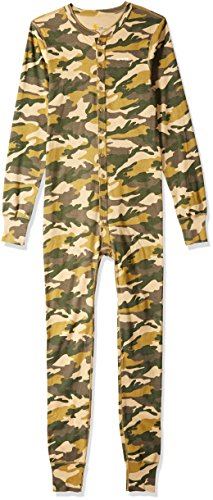 Carhartt Men's Force Classic Thermal Base Layer Union Suit, Rugged Khaki Camo, 2X-Large