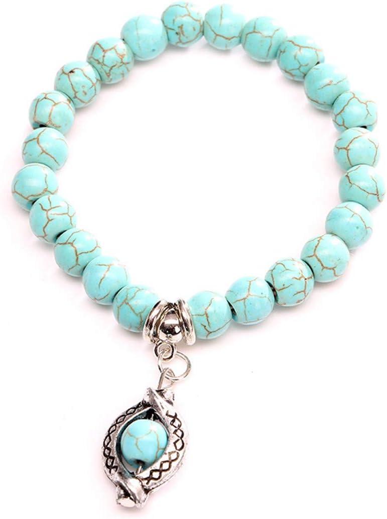 LIUCM Boho Vintage Turquoises Bracelets for Women Men's Handmade Bracelet Bangle Accessories
