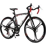 Outroad Road Bike 14-Speed Shimano Shifter 700C Wheel with Aluminum Alloy Frame, Rider Bike Faster and Lighter Commuter Bicycle, Red&Black
