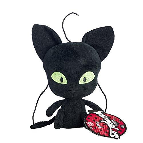 Bandai - Miraculous Ladybug - Peluche 15 cm - Plagg, le Kwami noir de la destruction - 39831
