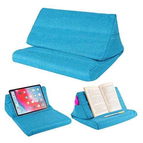 Locisne Cuscino Divano Supporto per Tablet Laptop, Supporto Cuscino per Divano eReader con Tasca Piccola per Tablet e-Reader Smartphone Smartphone aeroplanino riviste