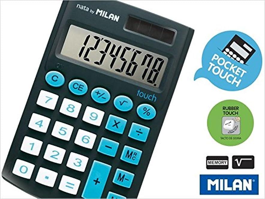 びっくりしたサイトライン背が高いMILAN ポケット8桁 電卓 Touch 150908 ブラック