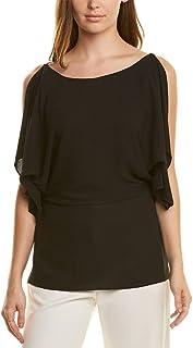 Halston Heritage Womens Printed Gathered Blouse Top Shirt BHFO 6836