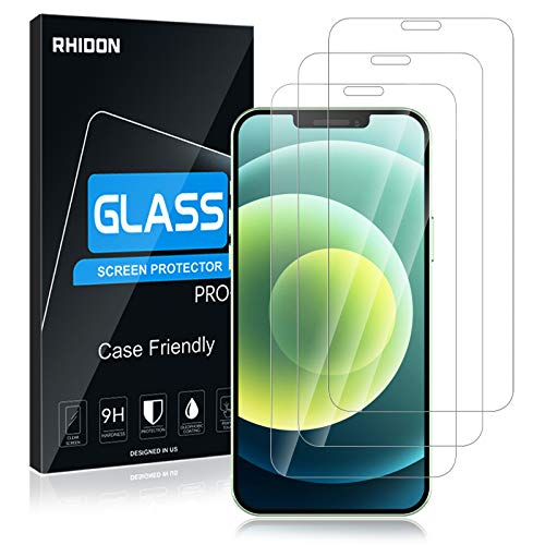 """[3 Pack] Glass Screen Protector for iPhone 12 Mini 5G 5.4"""" Screen Protector, 9H Tempered Glass Screen Protector for iPhone 12 Mini, HD Clear No Bubble Case Friendly Anti-Scratch Screen Protector"""