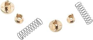 Blesiya 2X T8 Anit-Backlash Spring Loaded Nut Elimination Gap Nut for 3D Printer CNC Machine 8mm Acme Threaded Rod Lead Sc...