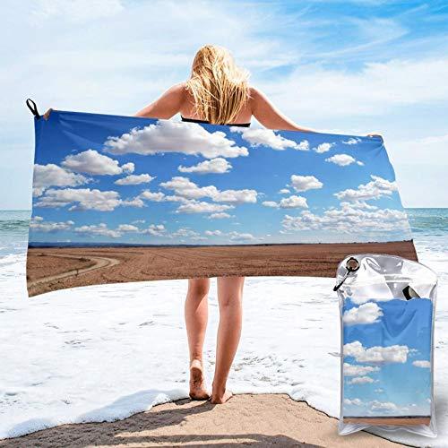 Toalla de playa de microfibra Sky – secado rápido, ligera, sin arena, para viajes al aire libre, manta de micro fibra, alfombrilla fina, personalizada, para mujeres, hombres, adultos