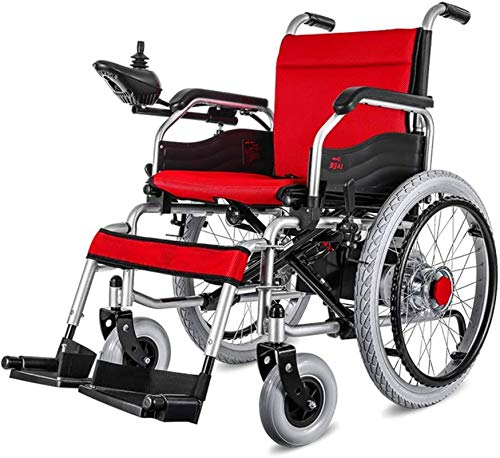 Fangfang Elektro Rollstuhl Klapprollstuhl Elektrisch, Lithium-Batterie-Elektro-Rollstuhl Folding leichte, tragbare Dual-Use Kleine Compact Ultra-Light Rollstuhl