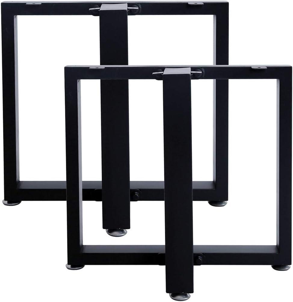DIY Bench Legs Metal Coffee Table Leg Furniture Legs 16/'/'Height 18Wide Heavy Duty Desk Legs Table Leg Black