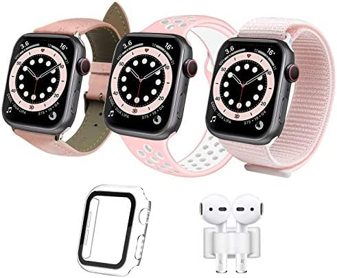 iDLEHANDS Compatible with Apple Watch Band 38mm 40mm Soft Silicone Sport Band Sport Loop Nylon product image